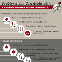 Problems You Can Avoid with Transmission Maintenance Infographic