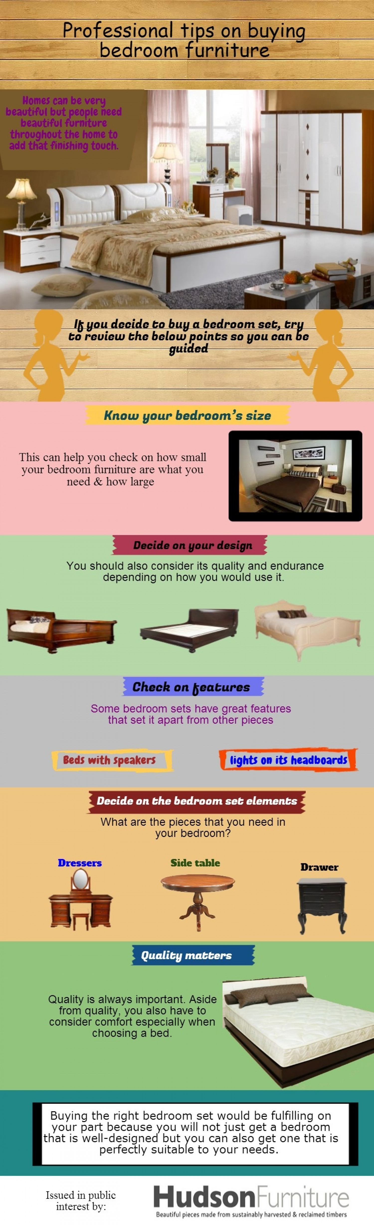 Professional tips on buying bedroom furniture Infographic