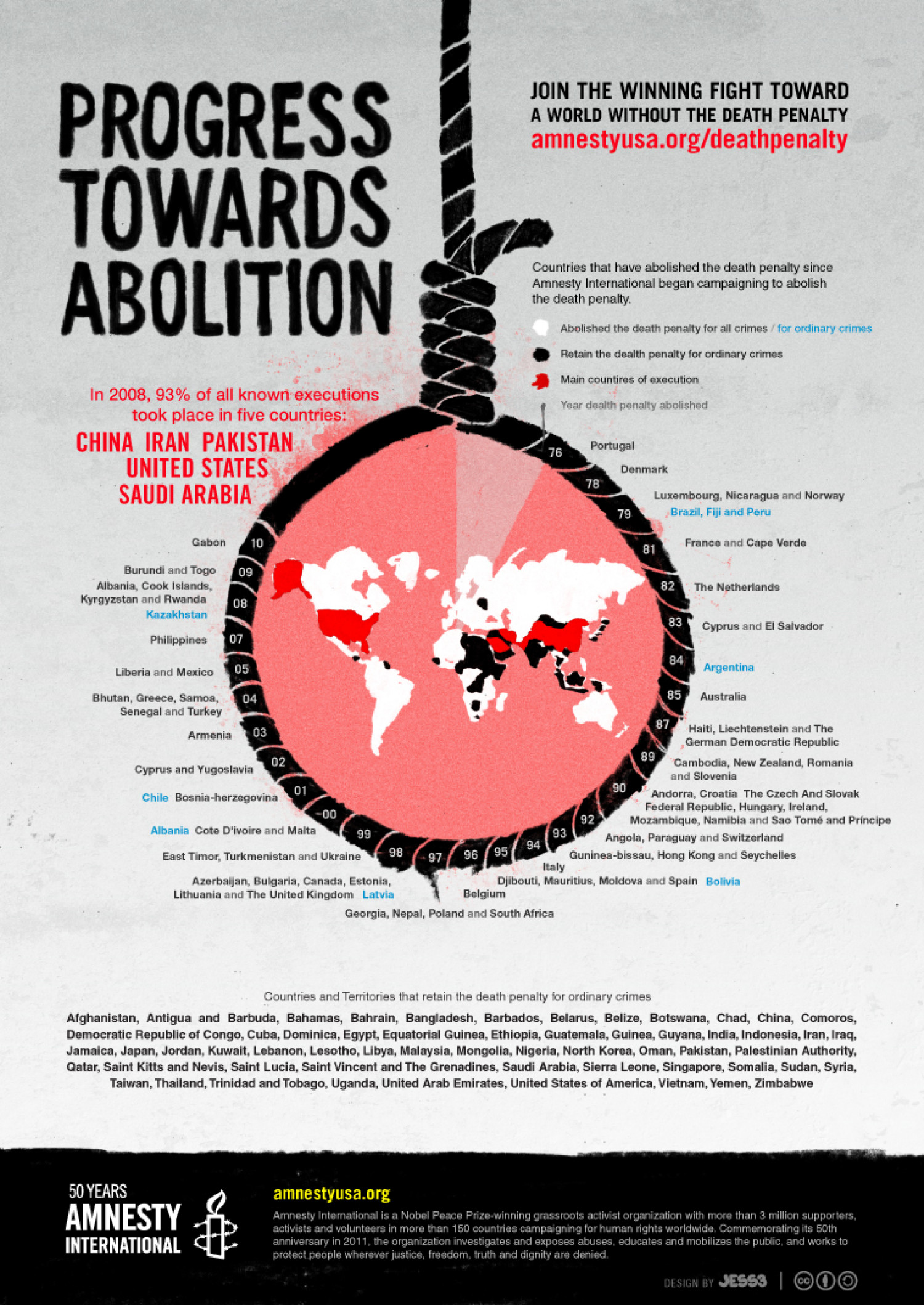 Progress Towards Abolition: Amnesty International 50th Anniversary Infographic