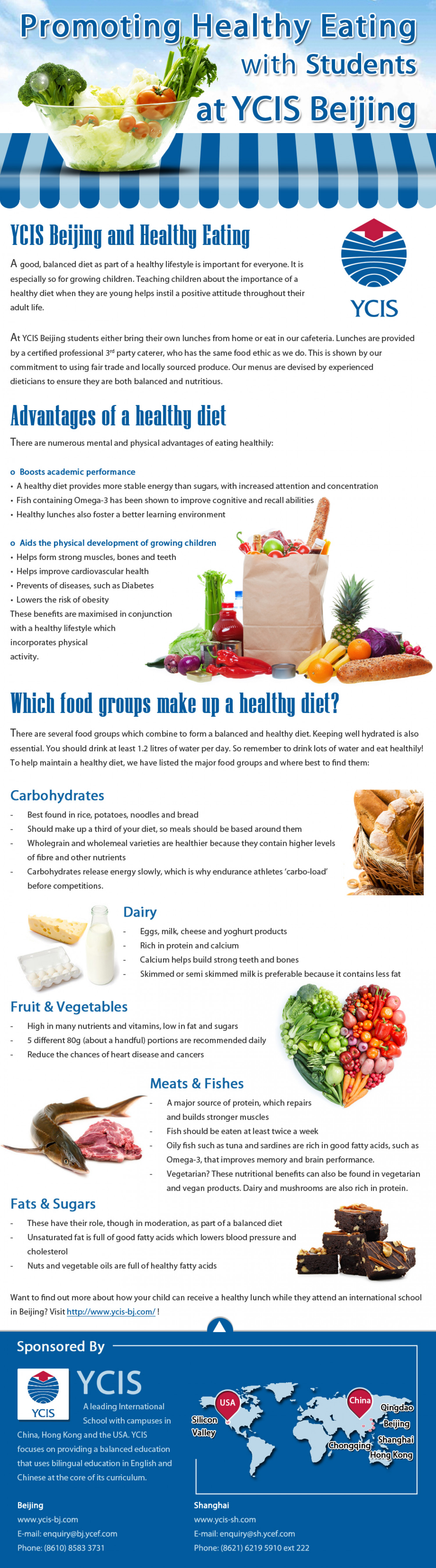 Promoting Healthy Eating with Students at YCIS Beijing Infographic