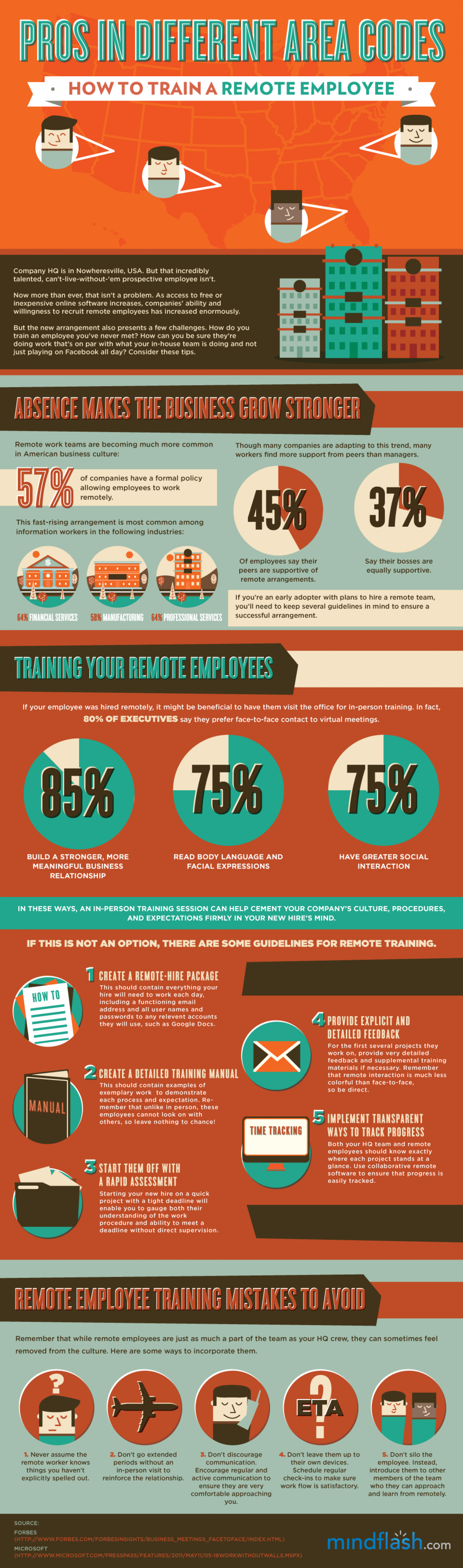 Pros In Different Area Codes: How to Train a Remote Employee Infographic