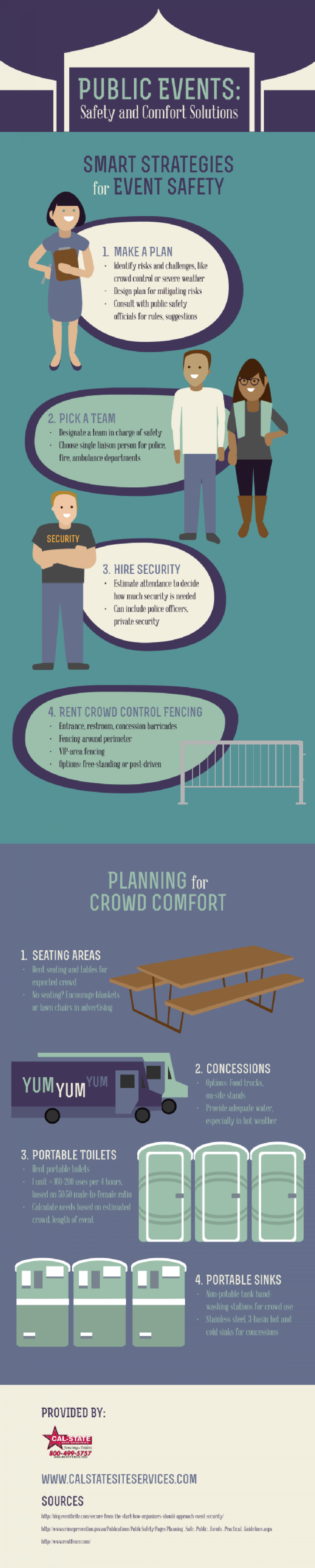 Public Events: Safety and Comfort Solutions Infographic