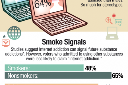 Public Opinion Suggests Internet Addiction Is a Problem Infographic