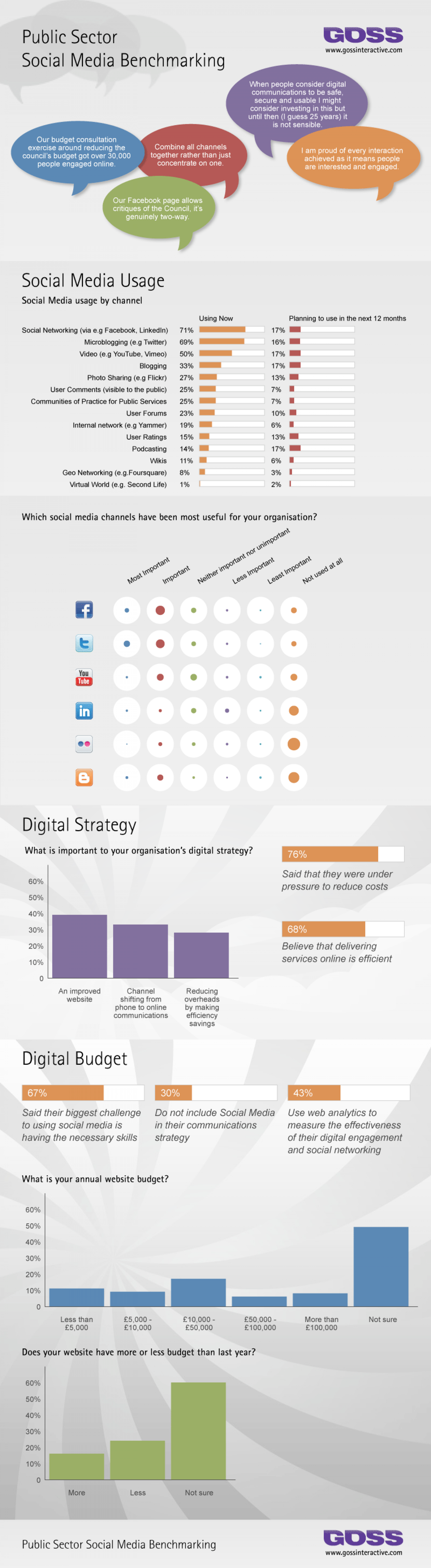 Public Sector Digital Engagement and Social Media  Infographic
