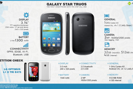 Quick Facts: Samsung Galaxy Star Trios S5283 Infographic