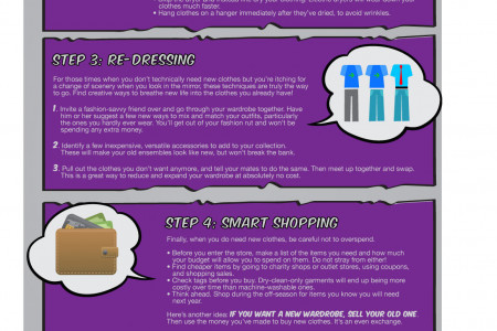 QuickQuid Frugal Living Chapter 8: How to Save on Clothes Infographic