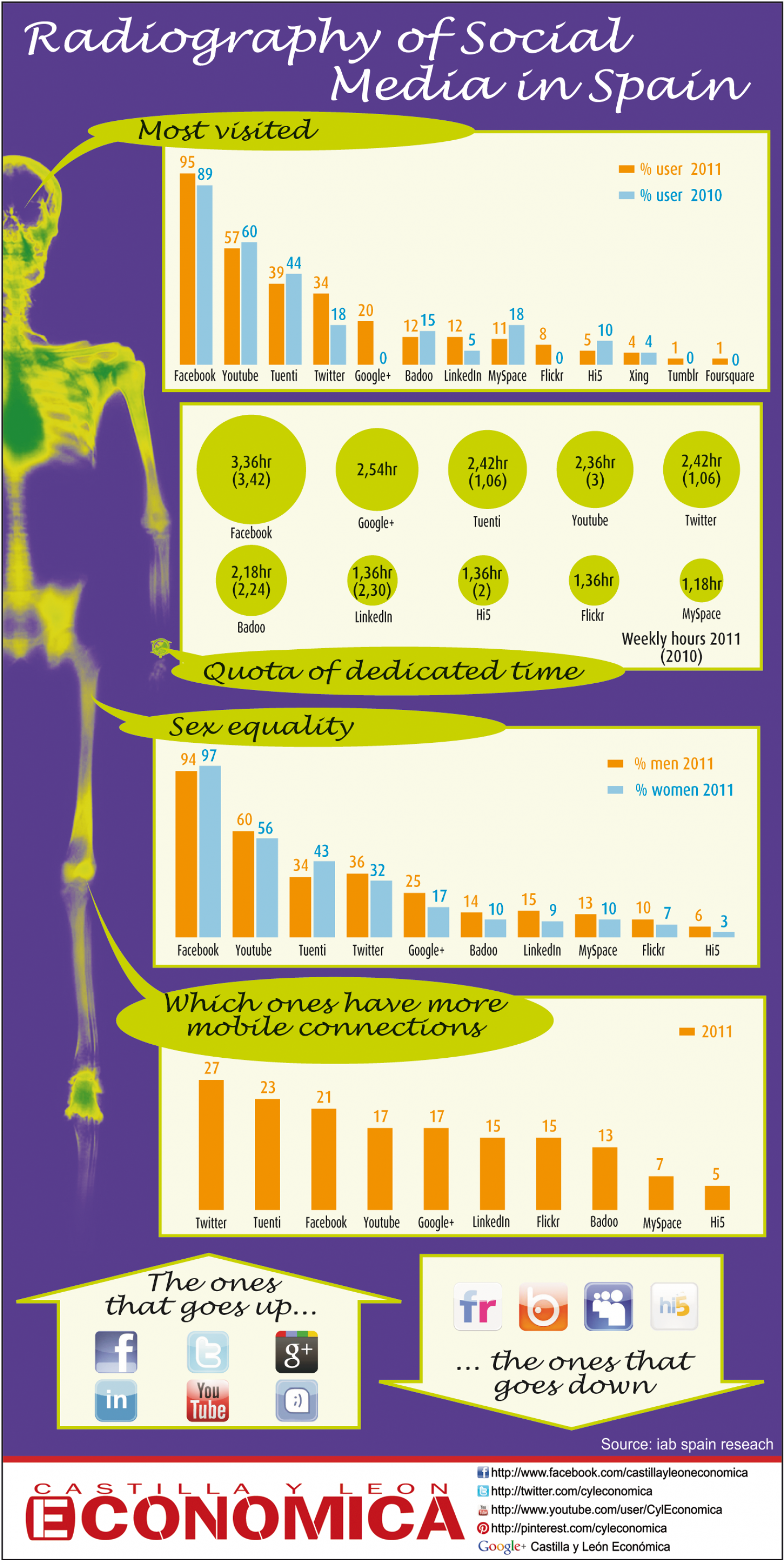 Radiography of Social Media in Spain Infographic