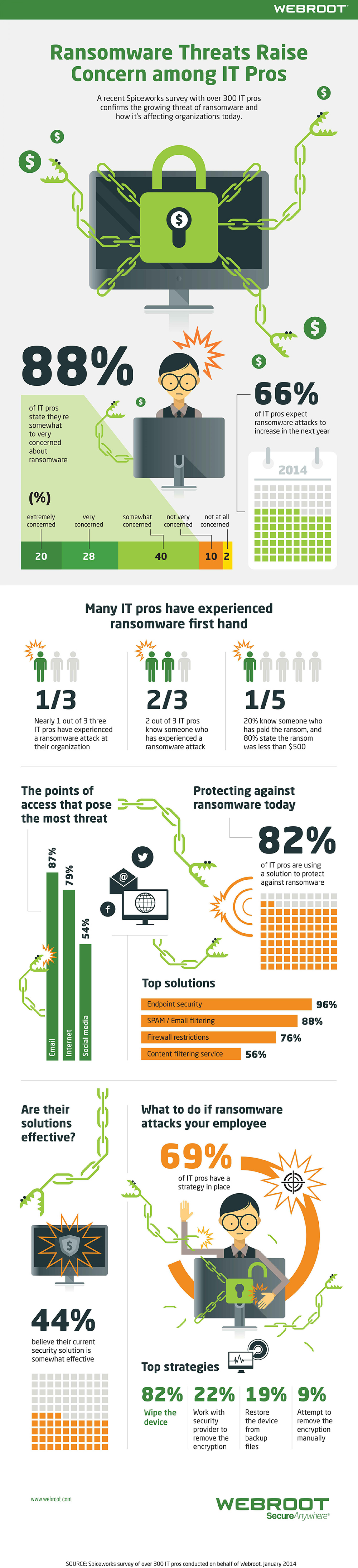 Ransomware Threats Raise Concern Among IT Pros Infographic