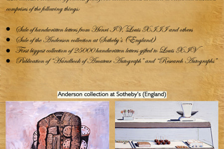 Rare collection of oldest extant letters and collectibles are offered by Aristophil Infographic