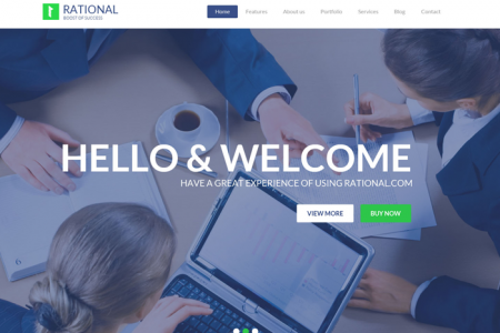 Rational – Impressive One Pager Responsive Business WordPress Theme  Infographic