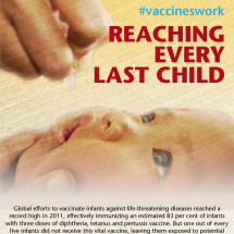 Reaching Every Last Child #Vaccineswork Infographic