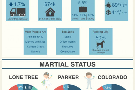 Real Estate Trends in Parker and Lone Tree for June 2014 Infographic