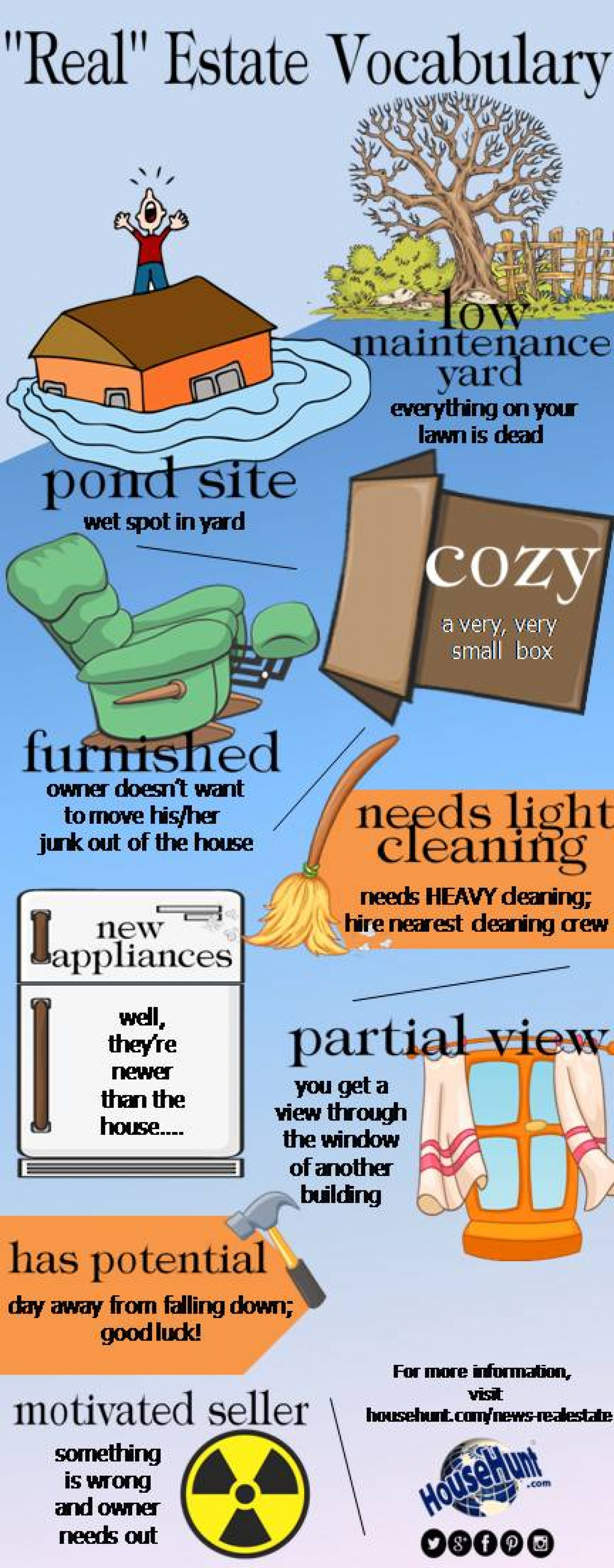 """""""Real"""" Estate Vocabulary Infographic"""