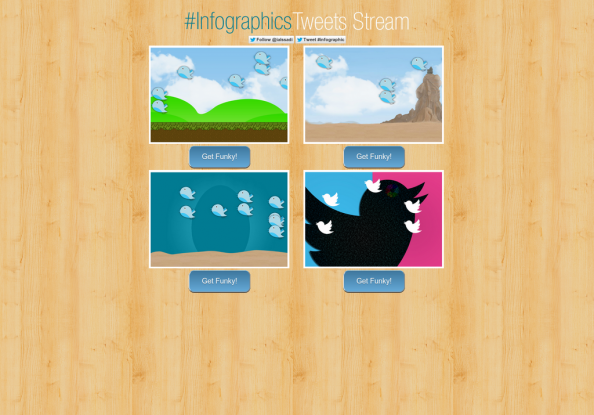 Real Time Infographic Tweet Stream Infographic