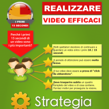 Realizzare Video Efficaci - I Primi 15 Secondi Infographic