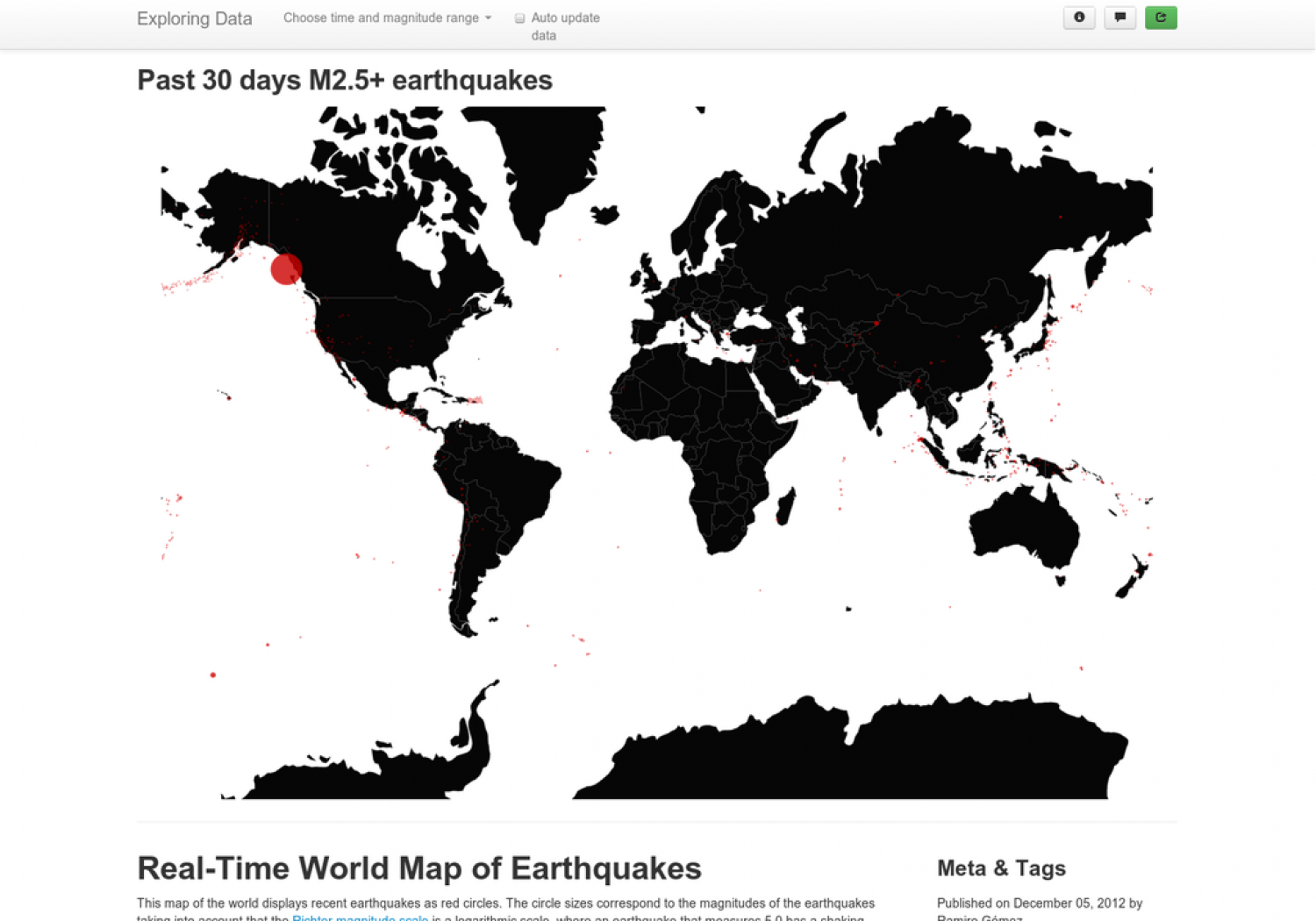 Real-Time Geo Map of Earthquakes Infographic
