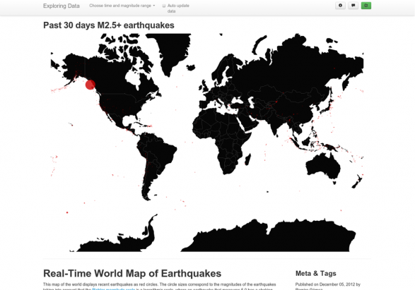 Real-Time Geo Map of Earthquakes