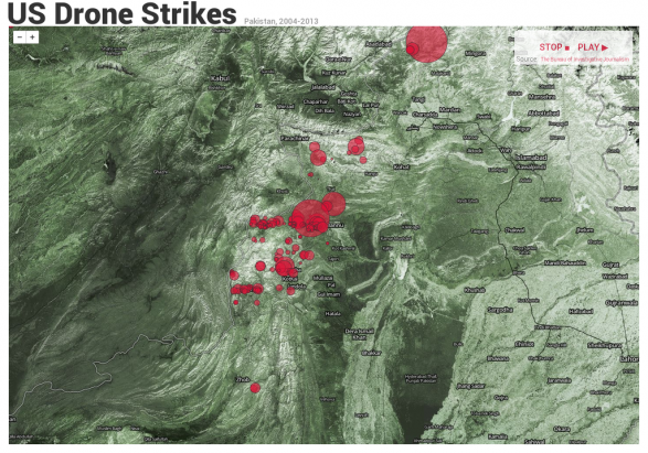 realtime us drone strikes in pakistan 51072a0e8e3ec w587 Real Time Infographic Allows Viewers To Track Drone Strikes