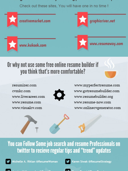 Resources you can use when making a Resume Infographic