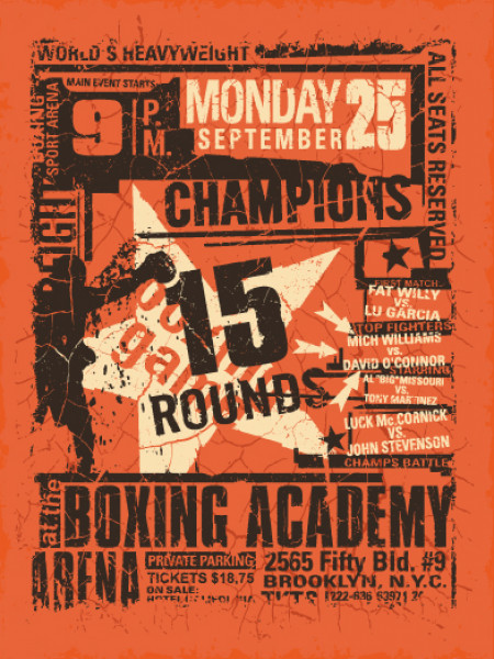Retro Boxing Poster Infographic