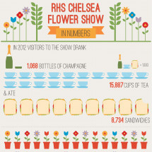 RHS Chelsea Flower Show in Numbers Infographic