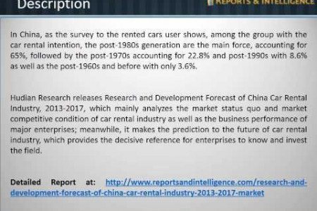 R&I: China Car Rental Industry Market- Size, Share, Global Trends, 2013-2017 Infographic