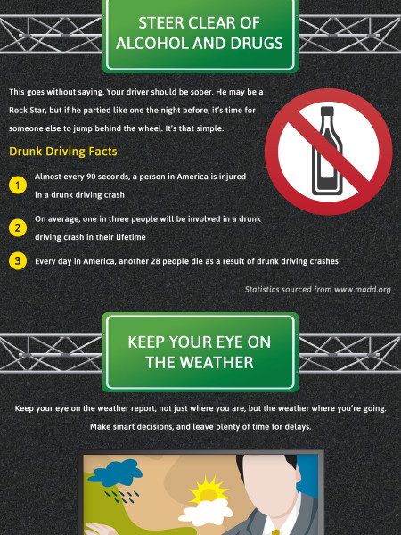 Road Safety Tips Infographic Infographic