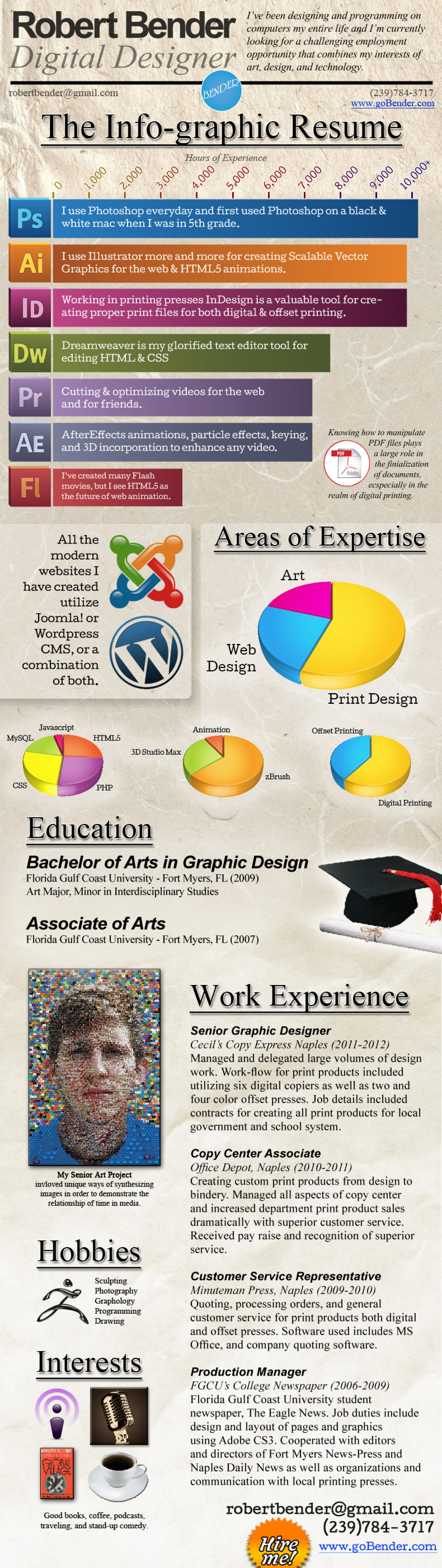 Robert Bender Info-graphic Resume Infographic