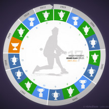 Roger Federer's Grand Slam Titles Infographic