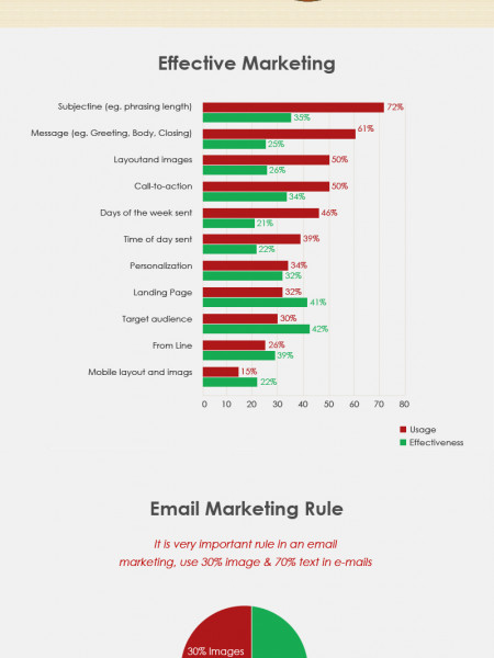 E-mail Marketing in Ecommerce Business Infographic