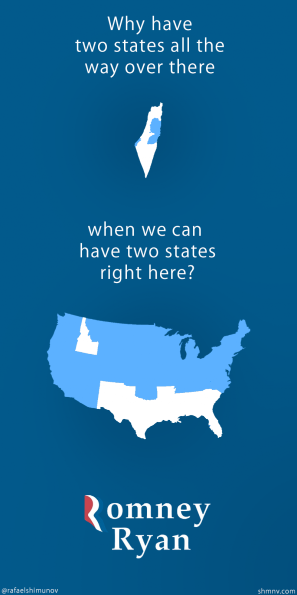 Romney&#039;s Two State Solution Infographic