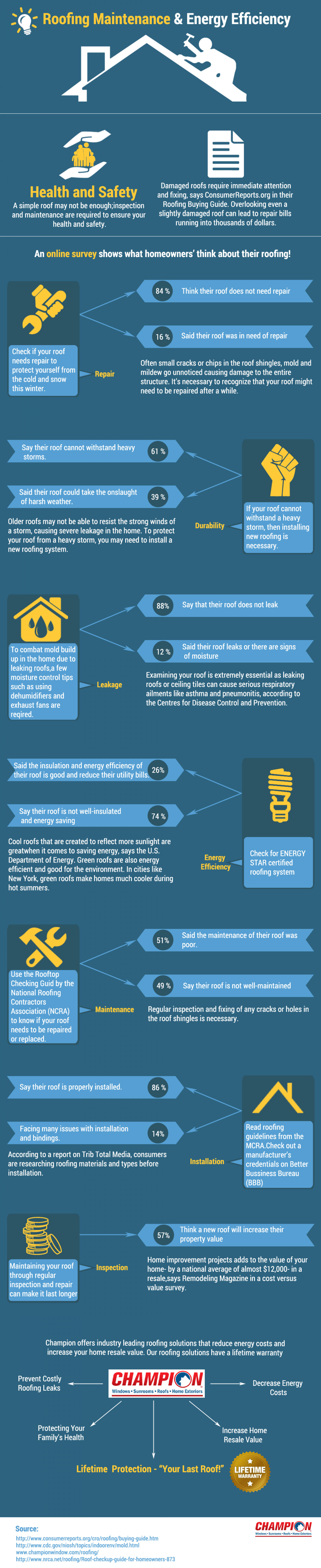 Roofing Maintenance Infographics Infographic