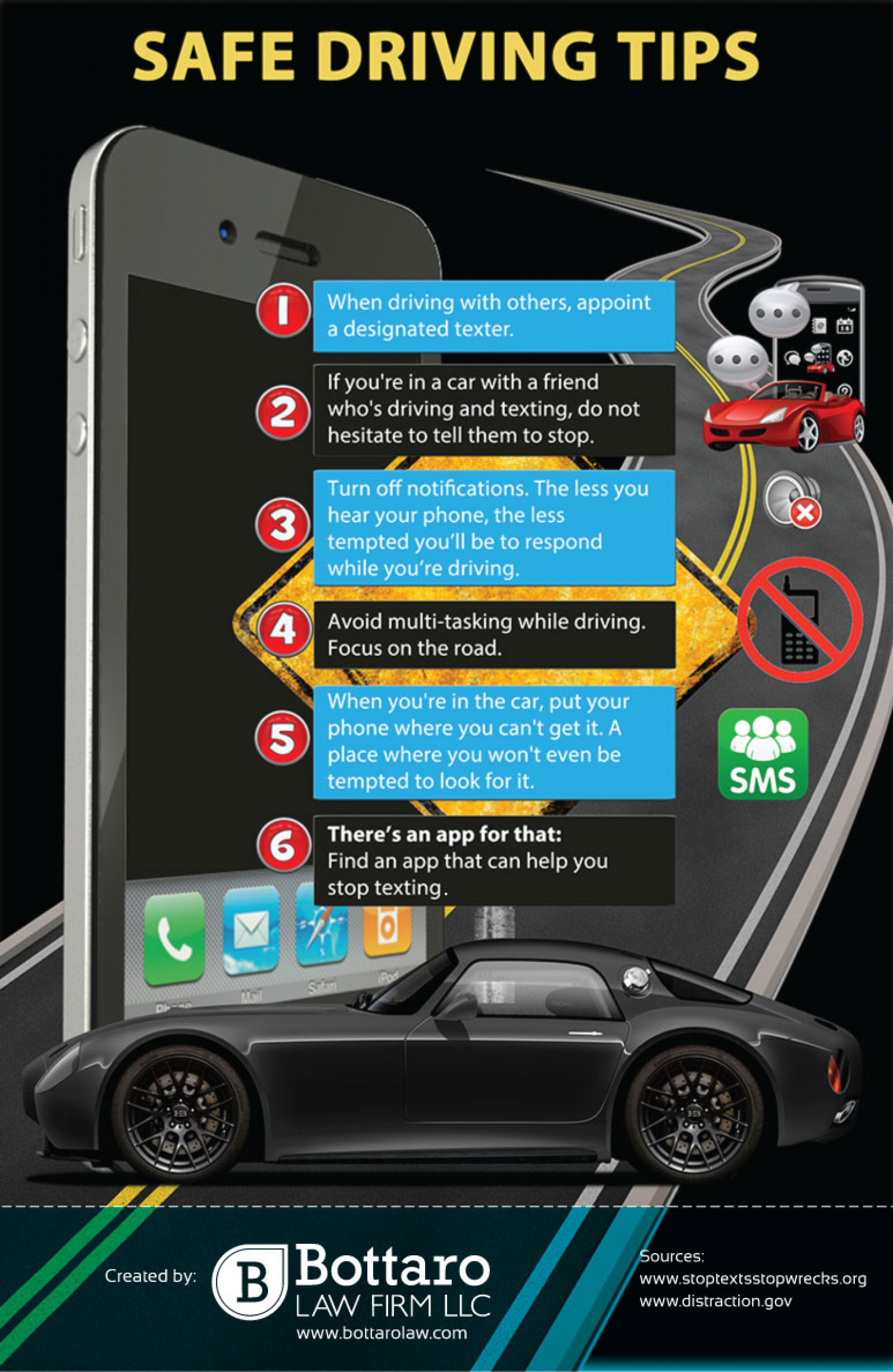 Safe Driving Tips Infographic