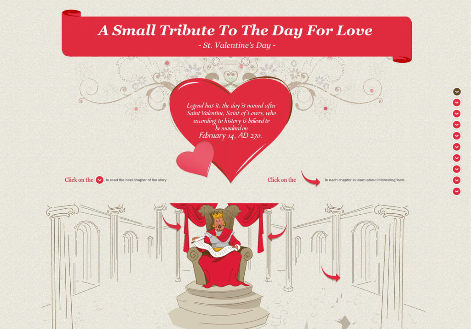 Saint Valentine's Day: A Small Tribute to the Day for Love Infographic