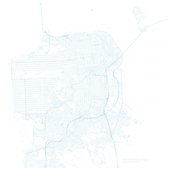 San Francisco Street Network Map Infographic