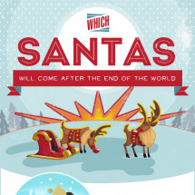 Santa Claus in the Post-Mayan Apocalypse World Infographic
