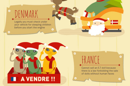 Santa's Christmas Journey Infographic