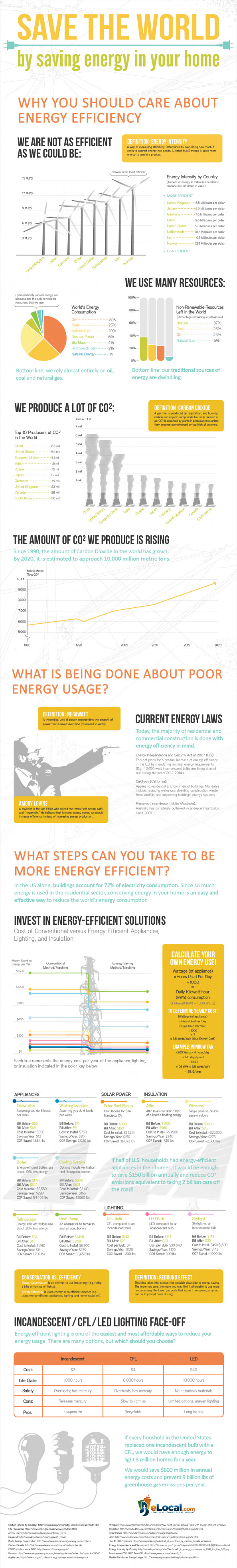 Save The World by Saving Energy Infographic