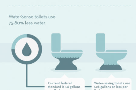 Saving Money at Home with Water-Saving Fixtures Infographic