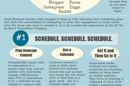 Scheduling Social Media is Our Top Tip for Businesses Infographic