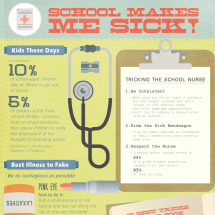 School Makes Me Sick! Infographic