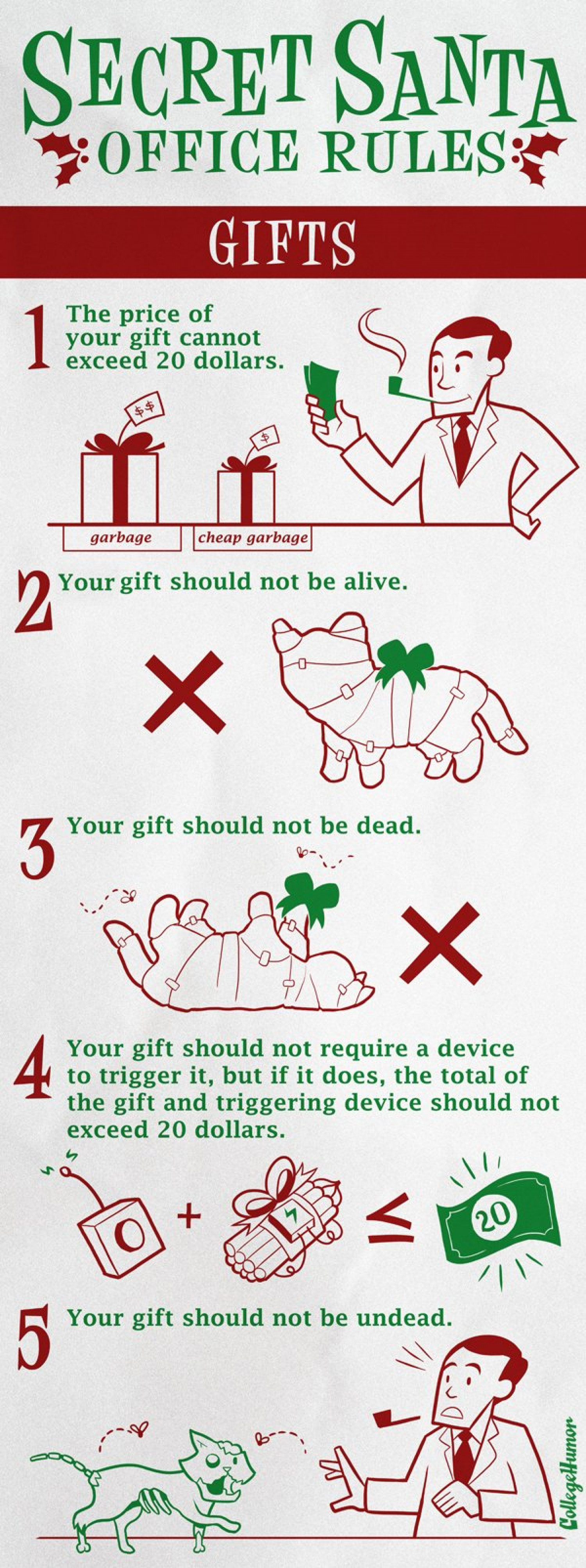 Secret Santa: Office Rules  Infographic
