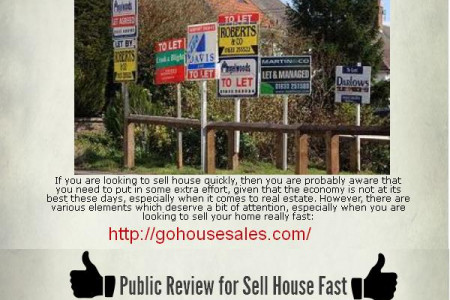Sell House Fast With The Help Of Go House Sales Infographic