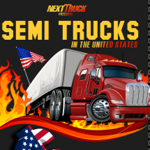 Semi Trucks in the United States Infographic