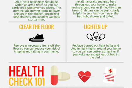 Senior Home Safety Improvement Tips Infographic