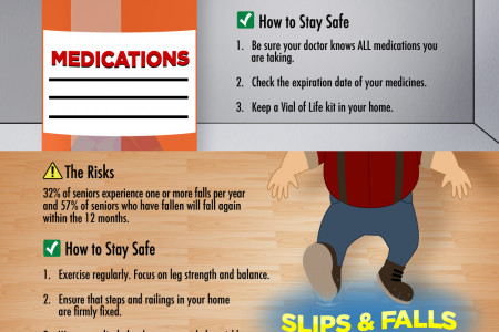Senior Safety: Risks & Tips for Staying Safe Infographic