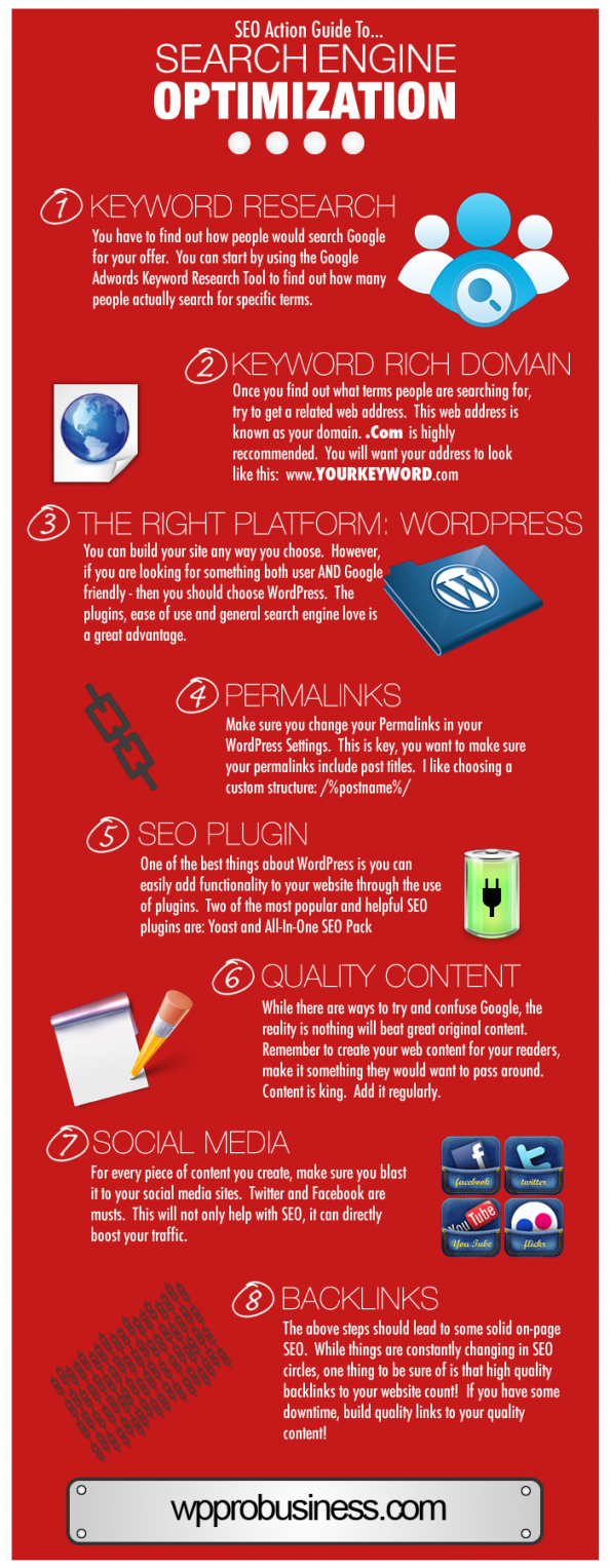 SEO Action Guide to Search Engine Optimization Infographic