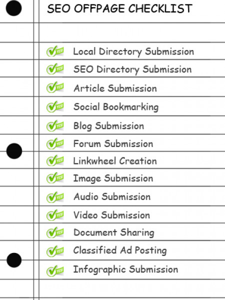 SEO Offpage Optimization Checklist/Tips/Guide Infographic