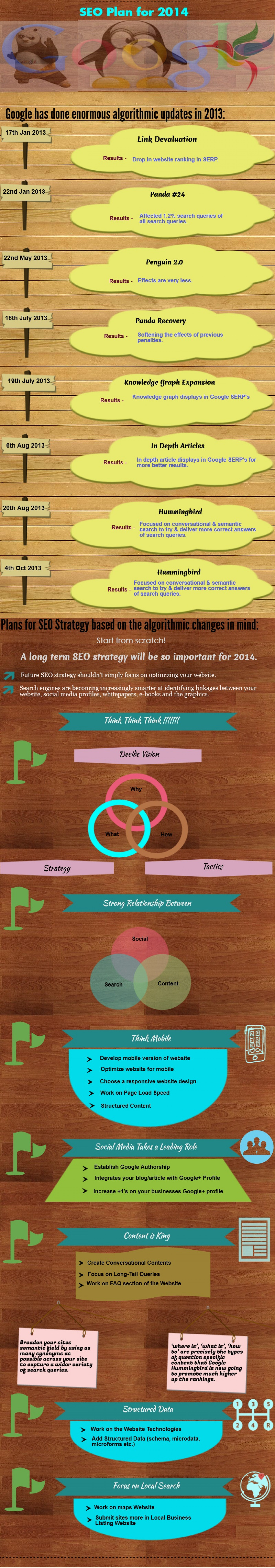 SEO Strategy or Plan for 2014 Infographic