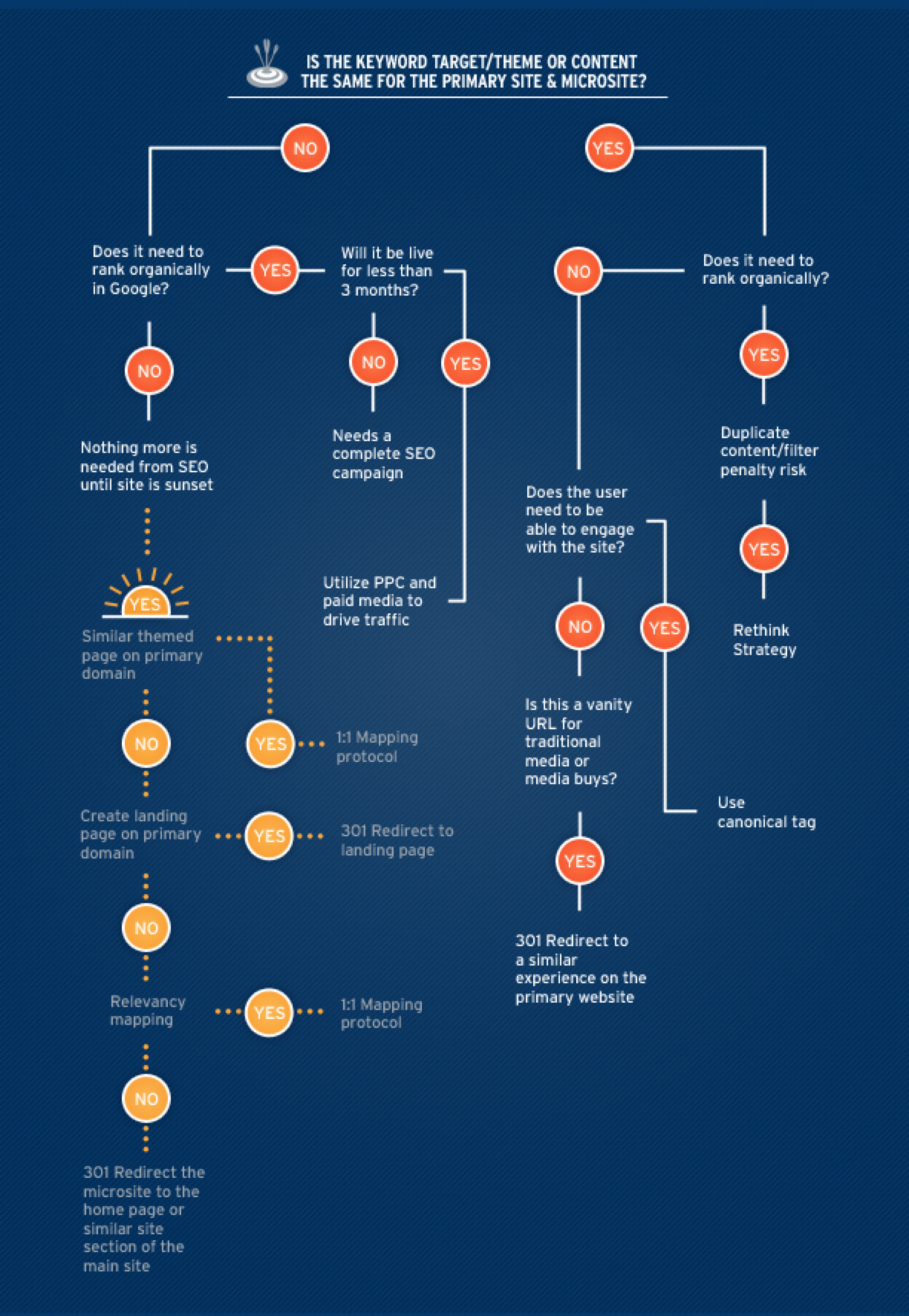 SEO Thoughts About Microsite Strategy Infographic